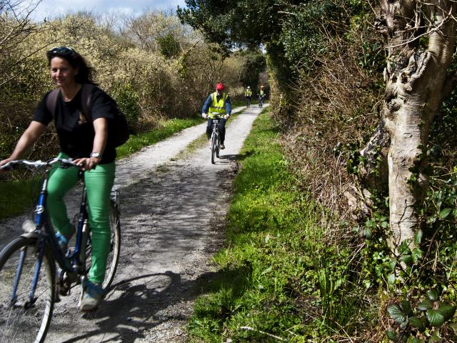 Cyclist on Clay Trail